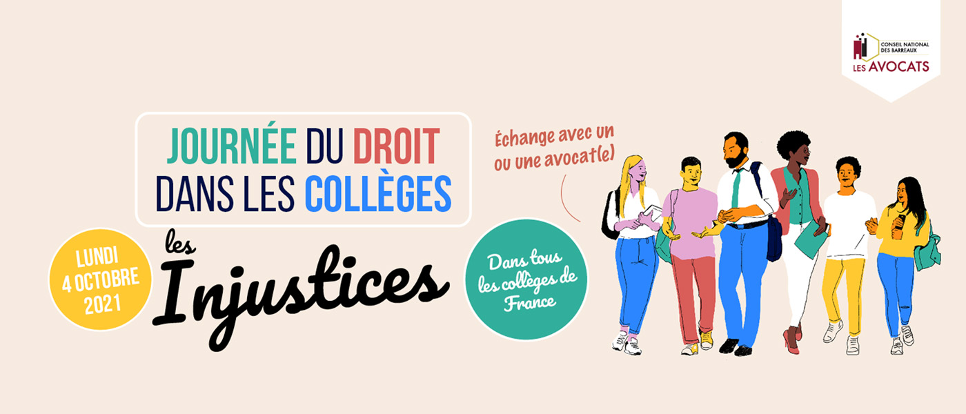 Bannière journée du droit dans les collèges